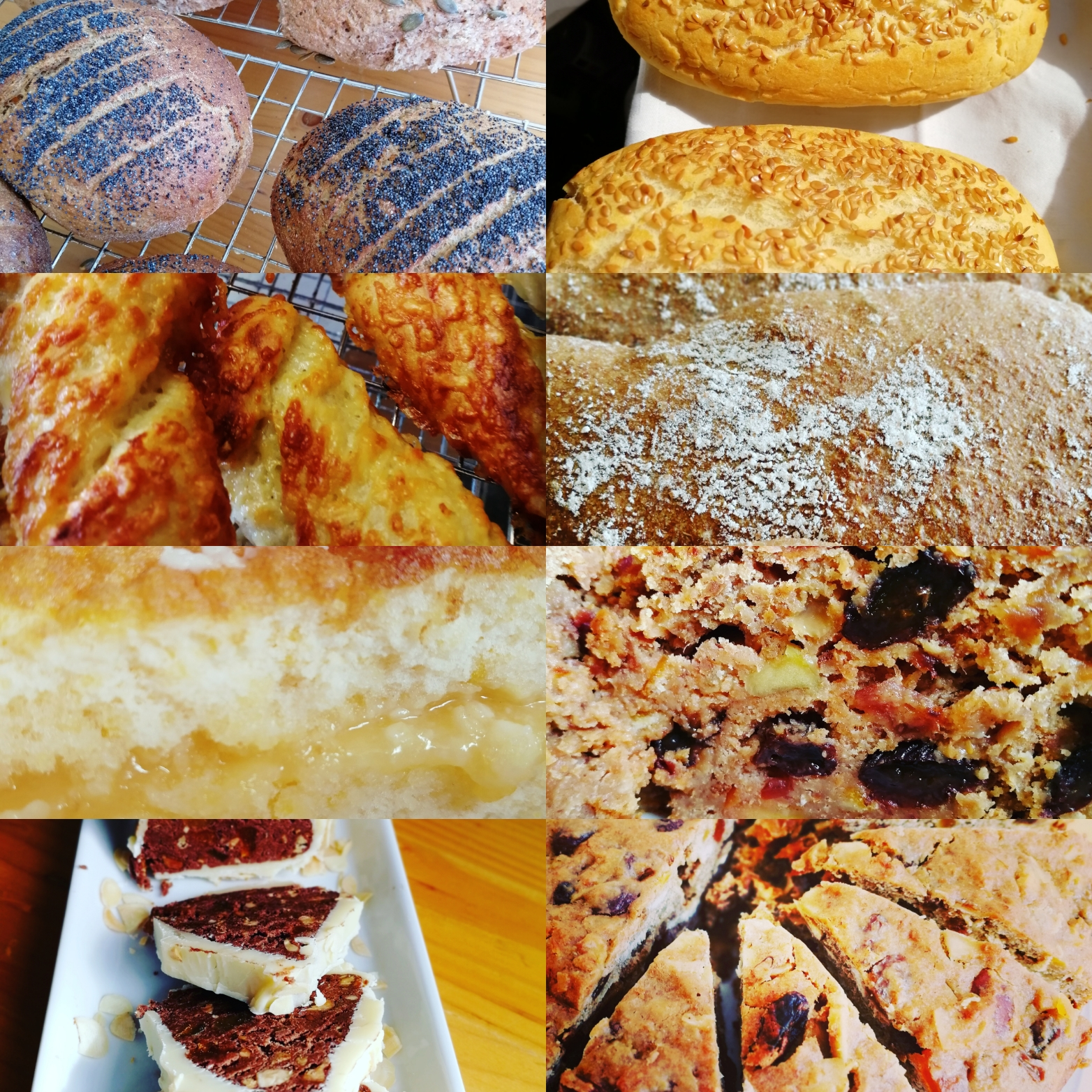 Home made, bread, cakes, chocolates, glutenfree included,