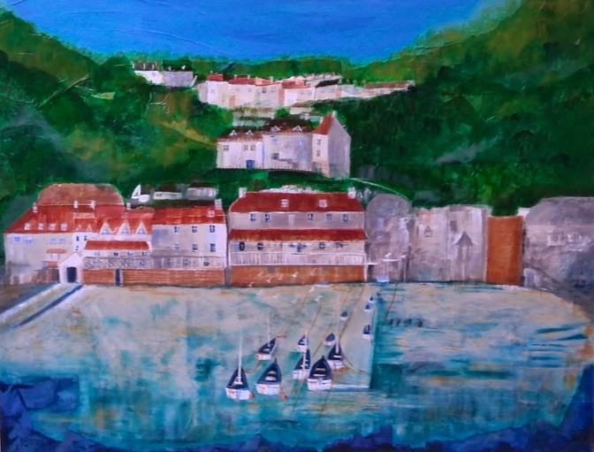 Clovelly, Devon, Art, Paintings, Artisit
