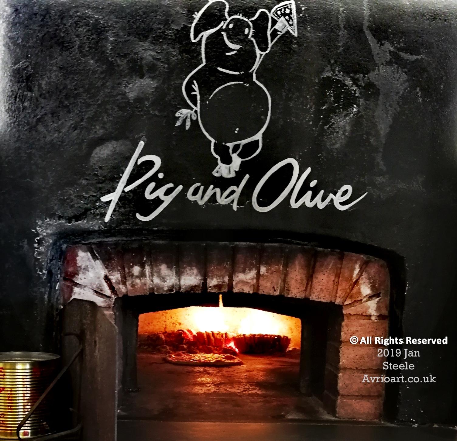 pizza, sourdough, pulled pork, mozzerella,