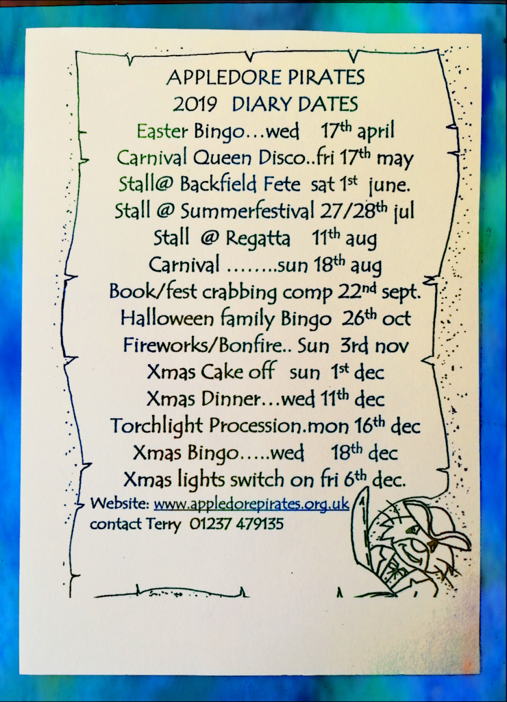 events, pirates, appledore, community, carnival