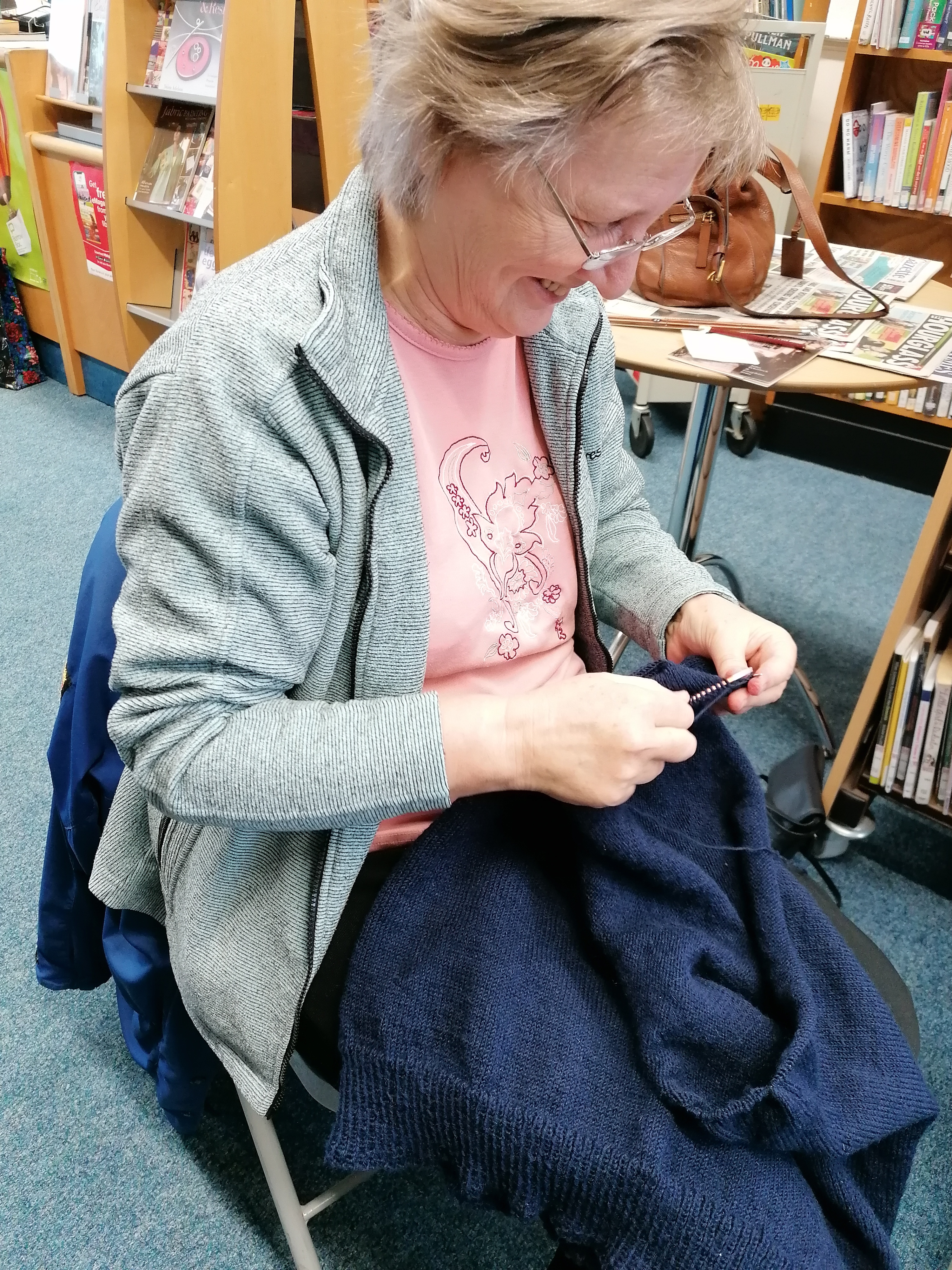 Appledore, knitting, jersey, community group, crafts