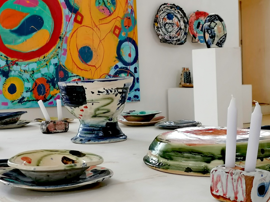 Architecture, Ceramics, tableware, pottery, sculpture, paintings