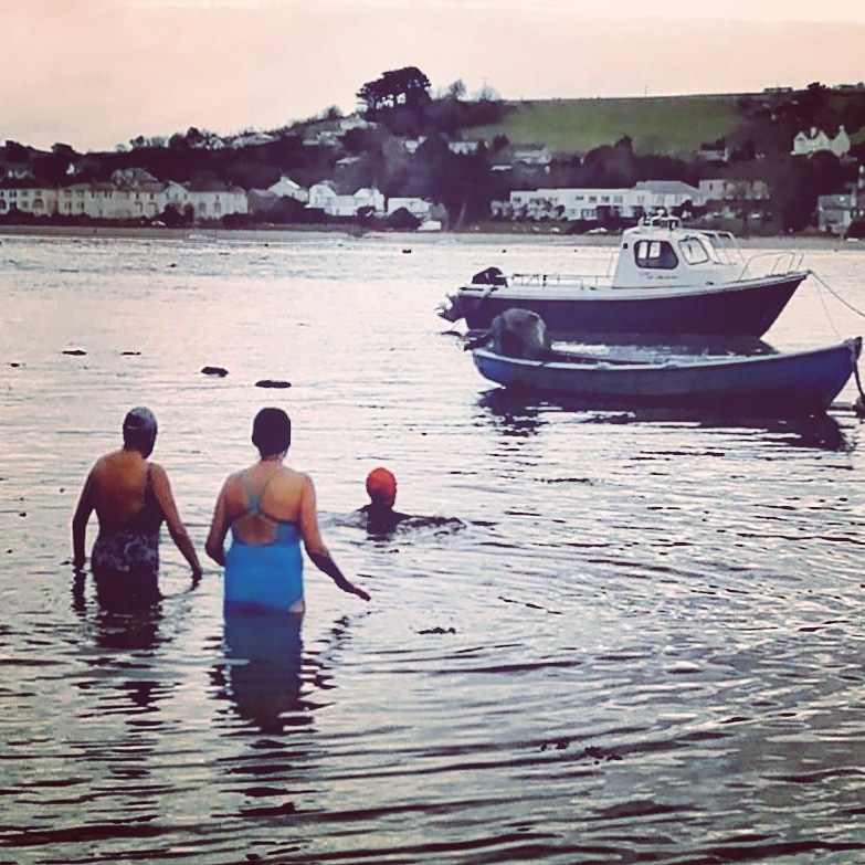 cold water swimming, estuary dip, mental health, after drop, get the glow,